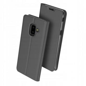 """Juodas atverčiamas dėklas Samsung Galaxy J610 J6 Plus 2018 telefonui """"Dux Ducis Skin"""""""