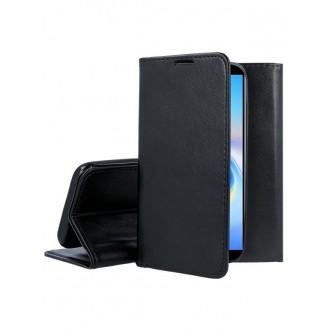 """Juodas atverčiamas dėklas Samsung Galaxy J610 J6 Plus 2018 telefonui """"Magnet Book"""""""