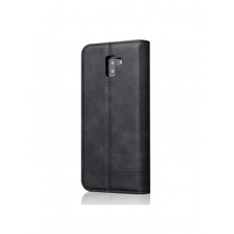 """Juodas atverčiamas dėklas Samsung Galaxy J610 J6 Plus 2018 telefonui """"Prestige Book"""""""