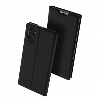 """Juodas atverčiamas dėklas Samsung Galaxy N970 Note 10 telefonui """"Dux Ducis Skin"""""""