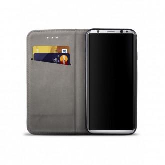 """Juodas atverčiamas dėklas Samsung Galaxy S8 telefonui """"Smart Magnet"""""""