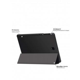 """Juodas atverčiamas dėklas Samsung T830 Tab S4 10.5 """"Smart Leather"""""""