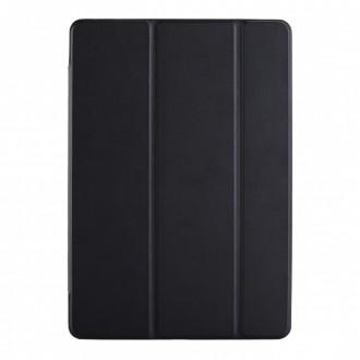 """Juodas atverčiamas dėklas Samsung T870 / T875 Tab S7 """"Smart Leather"""""""