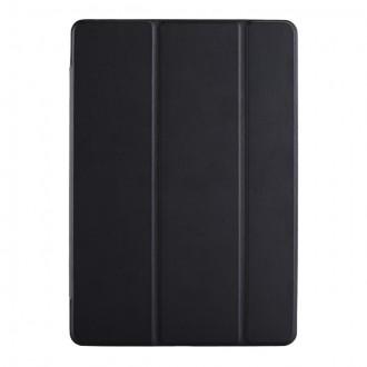 """Juodas atverčiamas dėklas Samsung T970 / T976 Tab S7+ """"Smart Leather"""""""