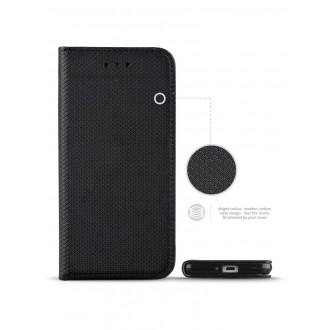 """Juodas atverčiamas dėklas Xiaomi Redmi 5A telefonui """"Smart Magnet"""""""