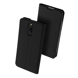"""Juodas atverčiamas dėklas Xiaomi Redmi 8 telefonui """"Dux Ducis Skin"""""""