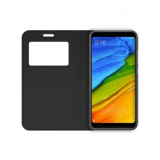 """Juodas atverčiamas dėklas Xiaomi Redmi Note 5 Pro  telefonui """"Smart Look"""""""