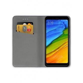 """Juodas atverčiamas dėklas Xiaomi Redmi Note 5 Pro  telefonui """"Smart Magnet"""""""