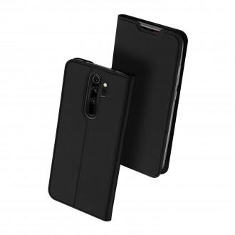 """Juodas atverčiamas dėklas Xiaomi Redmi Note 8 Pro telefonui """"Dux Ducis Skin"""""""