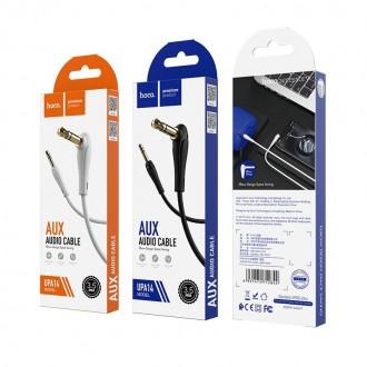 Juodas Audio adapteris Hoco UPA14 AUX 3,5mm į 3,5mm