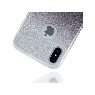 "Juodas blizgantis silikoninis dėklas Apple Iphone XS MAX telefonui ""Bling"""