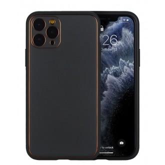 """Juodas dėklas """"Gold Line"""" Apple Iphone XR telefonui"""