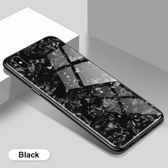 """Juodas dėklas """"Marble"""" Apple iPhone X / XS telefonui"""
