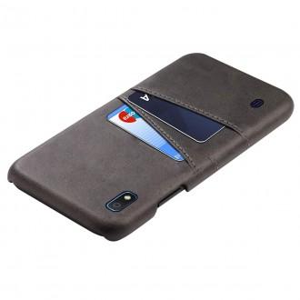 "Juodas dėklas Samsung Galaxy A105 A10 telefonui ""Leather Card Case"""