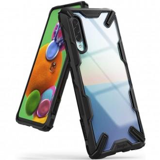 """Juodas dėklas Samsung Galaxy A90 5G telefonui """"Ringke Fusion"""""""