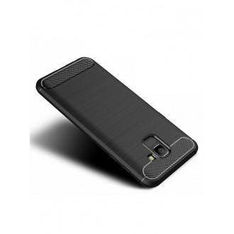 """Juodas dėklas Samsung Galaxy J600 J6 2018 telefonui """"Carbon case"""""""