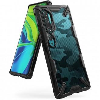 """Juodas dėklas Xiaomi Mi Note 10 / Mi Note 10 Pro telefonui """"Ringke Fusion Camo"""""""