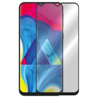 Juodas grūdintas stiklas 5D Full Glue Samsung Galaxy M105 M10 telefonui