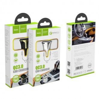 Juodas įkroviklis automobilinis Hoco Z31 Quick Charge 3.0 (3.1A) su 2 USB jungtimis