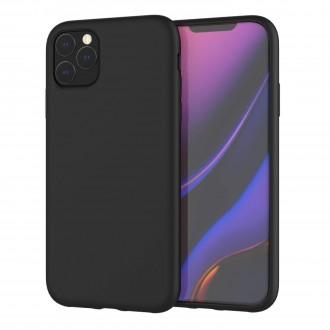 "Juodas silikoninis dėklas Apple iPhone 11 Pro Max telefonui ""Liquid Silicone"" 2.0mm"