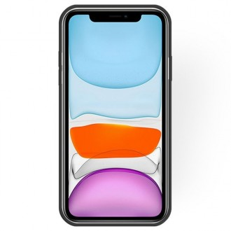 "Juodas silikoninis dėklas Apple iPhone 11 telefonui ""Rubber TPU"""