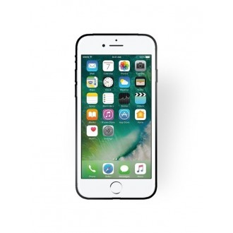 """Juodas silikoninis dėklas Apple iPhone 7 / 8 / SE 2020 telefonui """"Rubber TPU"""""""