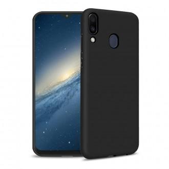 """Juodas silikoninis dėklas Huawei P Smart Z / Y9 Prime 2019 telefonui """"Liquid Silicone"""""""
