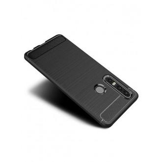 """Juodas silikoninis dėklas Huawei P30 Lite telefonui """"Carbon Lux"""""""