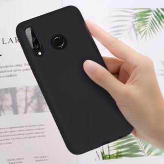 """Juodas silikoninis dėklas Huawei P30 Lite telefonui Mercury Goospery """"Soft Jelly Case"""""""