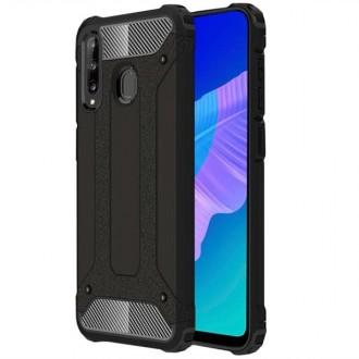 """Juodas silikoninis dėklas Huawei P40 Lite E telefonui """"Armor Neo"""""""