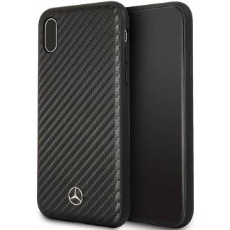 "Juodas silikoninis dėklas ""Mercedes"" MEHCI65SRCFBK telefonui Apple Iphone XS MAX"