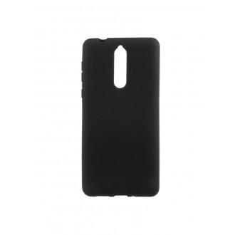 """Juodas silikoninis dėklas Nokia 8 telefonui """"Mercury Soft Feeling"""""""