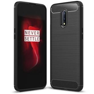 """Juodas silikoninis dėklas OnePlus 7 telefonui """"Carbon Lux"""""""