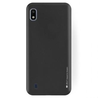 "Juodas silikoninis dėklas Samsung Galaxy A105 A10 telefonui ""Mercury Soft Feeling"""