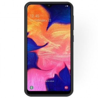 """Juodas silikoninis dėklas Samsung Galaxy A105 A10 telefonui """"Rubber TPU"""""""