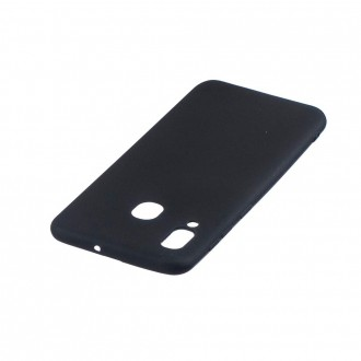 "Juodas silikoninis dėklas Samsung Galaxy A405 A40 telefonui Mercury Goospery ""Soft Jelly Case"""