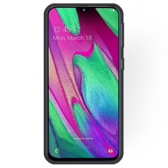 """Juodas silikoninis dėklas Samsung Galaxy A405 A40 telefonui """"Rubber TPU"""""""