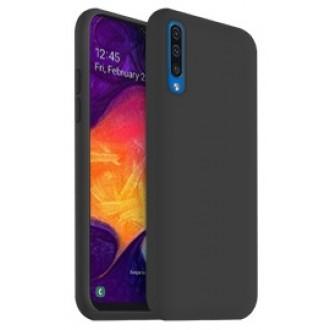 "Juodas silikoninis dėklas Samsung Galaxy A505 A50 / A507 A50s / A307 A30s telefonui ""Liquid Silicone"" 2.0mm"