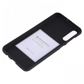 "Juodas silikoninis dėklas Samsung Galaxy A505 A50 telefonui Mercury Goospery ""Soft Jelly Case"""