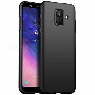 "Juodas silikoninis dėklas Samsung Galaxy A600 A6 2018 telefonui ""Spigen TPU Case"""