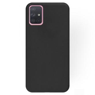 """Juodas silikoninis dėklas Samsung Galaxy A715 A71 telefonui """"Rubber TPU"""""""