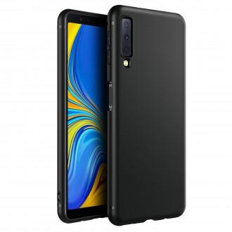 "Juodas silikoninis dėklas Samsung Galaxy A750 A7 2018 telefonui ""Spigen TPU Case"""