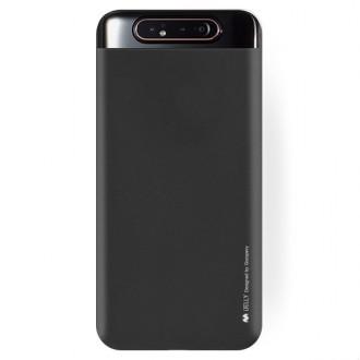 "Juodas silikoninis dėklas Samsung Galaxy A805 A80 telefonui ""Mercury Soft Feeling"""