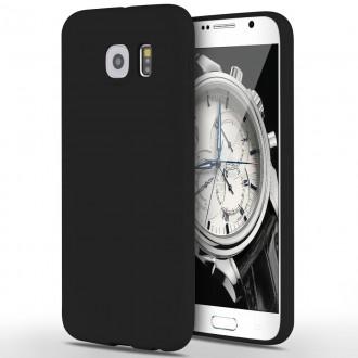"""Juodas silikoninis dėklas Samsung Galaxy G920 S6 telefonui """"Rubber TPU"""""""