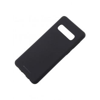 """Juodas silikoninis dėklas Samsung Galaxy G973 S10 telefonui """"Mercury Soft Feeling"""""""