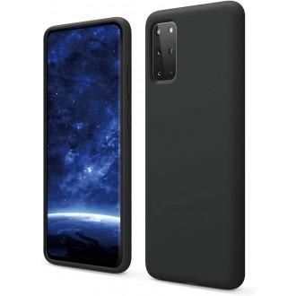"""Juodas silikoninis dėklas Samsung Galaxy G986 S20 Plus telefonui """"Liquid Silicone"""" 1.5mm"""