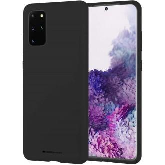 """Juodas silikoninis dėklas Samsung Galaxy G986 S20 Plus telefonui """"Mercury Soft Feeling"""""""
