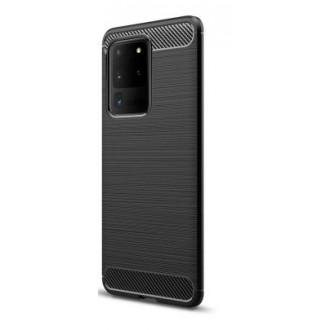 """Juodas silikoninis dėklas Samsung Galaxy G988 S20 Ultra telefonui """"Carbon Lux"""""""