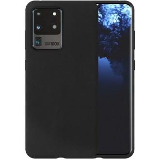 """Juodas silikoninis dėklas Samsung Galaxy G988 S20 Ultra telefonui """"Liquid Silicone"""" 1.5mm"""
