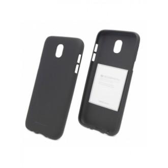 """Juodas silikoninis dėklas Samsung Galaxy J330 J3 2017 telefonui """"Mercury Soft Feeling"""""""